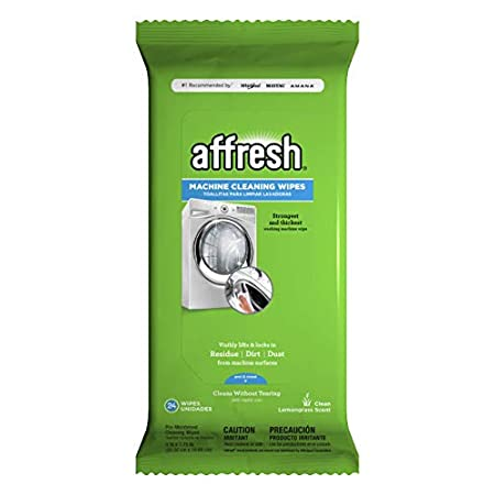 Antibacterial Hand Wipes Affresh W10355053 Washing Machine Cleaner, 24 Wipes | Cleans Front Top Load Washers,