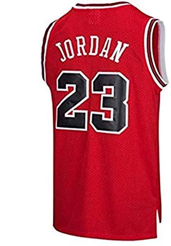 CCET Jersey Mann Männer NBA Michael Jordan # 23 Basketball Chicago Bulls T-Shirt Sport Ärmel Top Sport M-XXL (Color : Red, Size : Large -L)