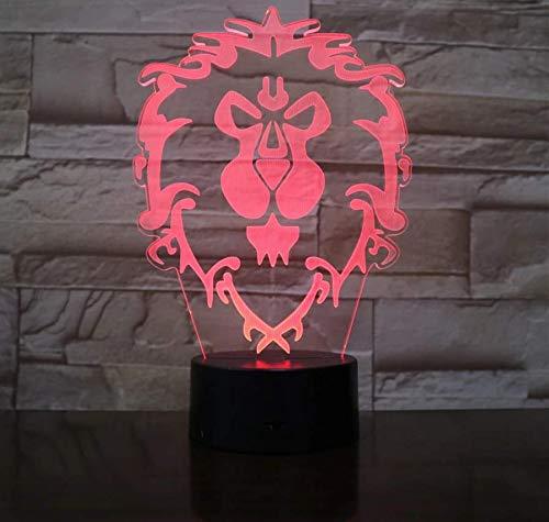 3D lamp Weihnachtsrutsche WOW Model Lion 3D Illusion NightLight LED Bunter Blitz Touch Touch Schreibtischlampe Figur Spielzeug fallen