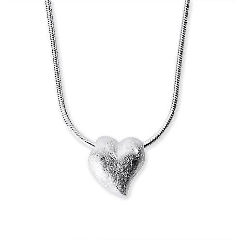 Heartbreaker Luxus Anhänger aus der Kollektion Crown of my Heart in Echtsilber | Herz-Anhänger Silber 925 Sterling nickelfrei | Eleganter Herz Anhänger für Damen