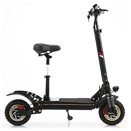 Scooters elétricos, Scooters elétricos para adultos com motor de 800 W, até 25 km/h e 25 km, Scooters adultos com assentos e freios duplos, Scooters elétricos dobráveis para adolescentes e adultos