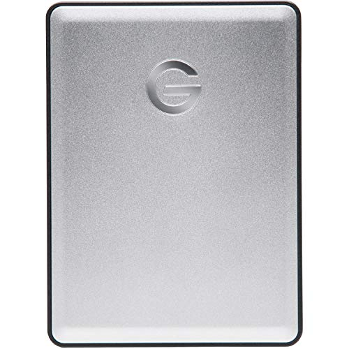 G-Technology 4TB G-DRIVE mobile USB 3.0 Portable External Hard Drive, Silver - 0G06074-1