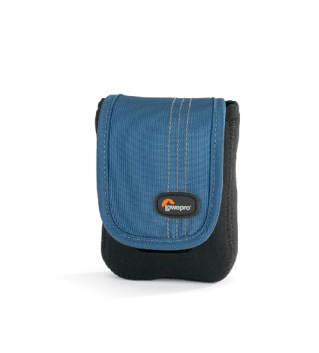 lowepro memory cards Lowepro Dublin 20 Slim Profile Pouches for Cameras and Compact Video Cameras (Black/Arctic Blue)