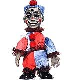 ClothHouse Hanté tragédie poupée, décoration Halloween Accessoire, Marcher Horreur effrayante possédé poupée avec Son Fournitures de fête de Vacances Jouets espiègles,Clown