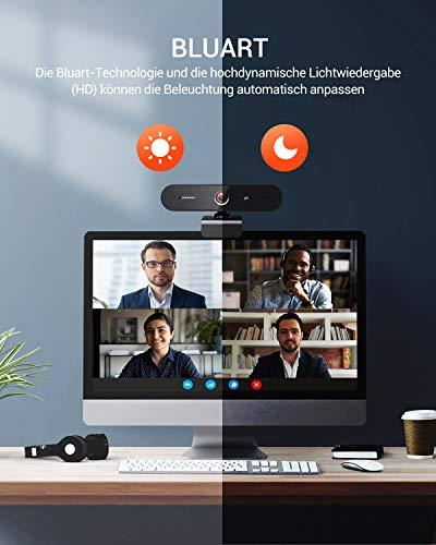 DEPSTECH 2K Webcam mit Mikrofon, 1440p Quad HD Webcam, Belichtungs Korrektur, Dual Stereo Mikrofon, Webcam USB 2.0 Plug & Play, Für Windows, Mac und Linux, Für Konferenz, Streaming, Online Kurs, etc,