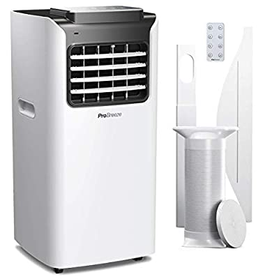 Pro Breeze 4-in-1 Portable Air Conditioner with Remote Control, 24 Hour Timer & Window Venting Kit Included