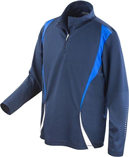 Spiro pour Homme d'essai d'entraînement Tops Moyen Bleu Marine/Bleu Roi/Blanc