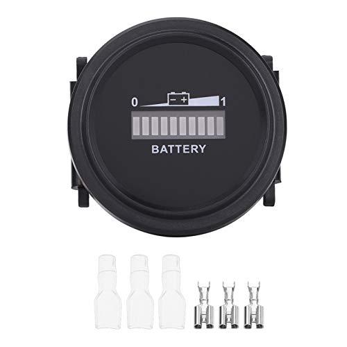 KIMISS Probador de batería de coche,medidor de medidor de indicador de batería digital LED 12V / 24V / 36V / 48V / 72V para carrito de golf