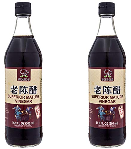 Soeos Chinkiang Vinegar, Chinese Black Vinegar, Zhenjiang Vinegar, 16.9 fl (2...