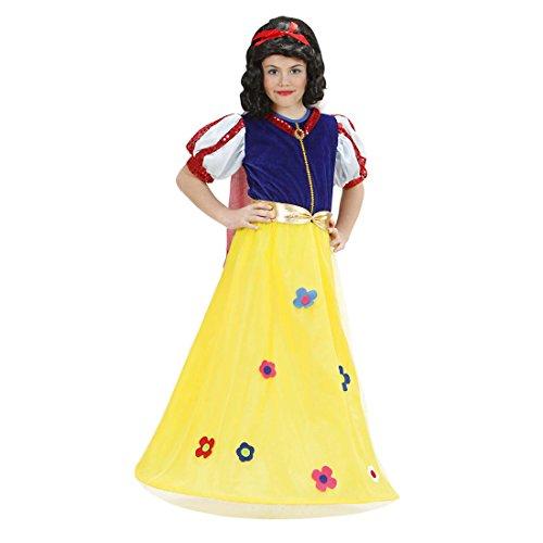 Amakando Disfraz infantil de princesa de Blancanieve, 140 cm, 8-10 aos, vestido de cuento de hadas, disfraz de Blancanieve, disfraz infantil de princesas Disney