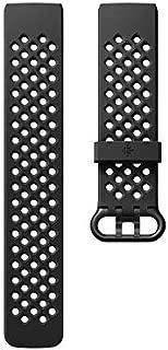 Fitbit フィットビット Charge3 専用 純正 交換用 スポーツ リストバンド Black ブラック Sサイズ【日本正規品】 FB168SBBKS