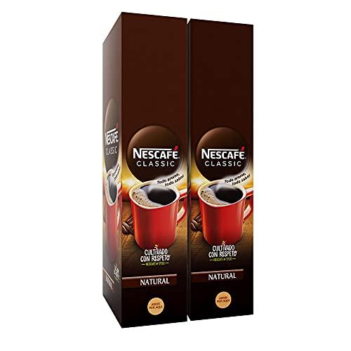 Nescafé Café soluble natural - 2 estuches x 50 sobres de 2 g - Total: 200 g