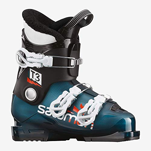 Salomon T3 RT Ski Boots Kid's Sz 7/7.5 (25/25.5) Morrocan Blue/Black/White