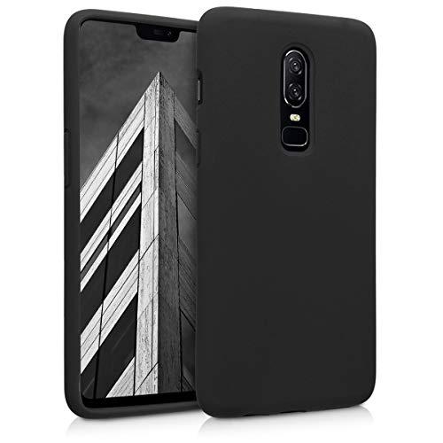 kwmobile Hülle kompatibel mit OnePlus 6 - Handyhülle gummiert - Handy Hülle in Schwarz