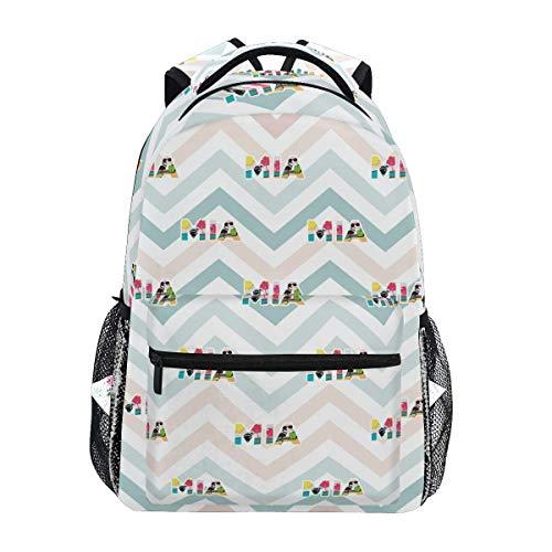 School Bag Miami Florida School Student Bookbag Casual Gift Backpack Unique Stylish Shoulder Bag College Durable Printed Lightweight Travel