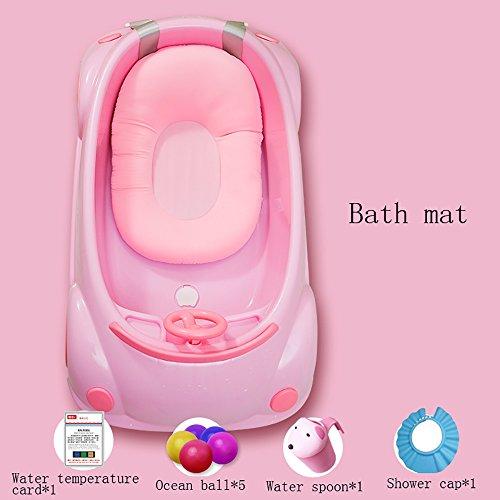 Baignoire Bébé Le Nouveau-né Peut S'asseoir Et Se Poser Dans La Baignoire Pour Enfants (Couleur : Pink (bath mat))