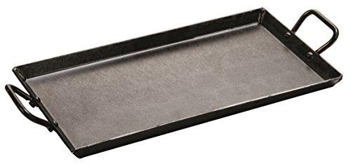 Lodge Carbon Steel Griddle, Pre-Seasoned, 18-inch , Black