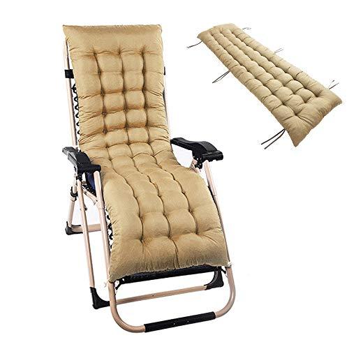 Ghopy Auflage für Sonnenliege Liegenauflagen Liegestuhl Stuhlkissen wasserabweisend rutschfest Dicker Bezug für den Außengebrauch(Nicht enthalten Stühle (48 * 160cm, Khai)