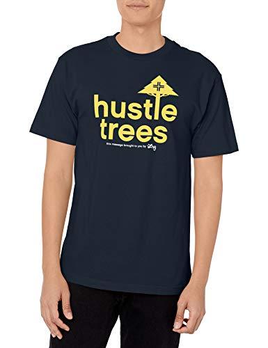LRG Men's Hustle Trees Logo T-Shirt, Navy, Large