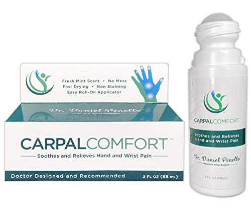 Carpal Comfort - Roll-On Carpal Tunnel Pain Relief - Natural and Medical Ingredients - Soothes and Relieves Wrist and Hand Pain - Doctor Designed and Recommended - Made in the USA