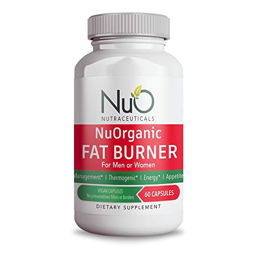NuOrganic Ultimate Fat Burner Supplement with Garcinia Cambogia, Raspberry Ketones, Green Coffee Bean, and Ashwagandha Root, Natural Weight Loss and Appetite Control for Men and Women
