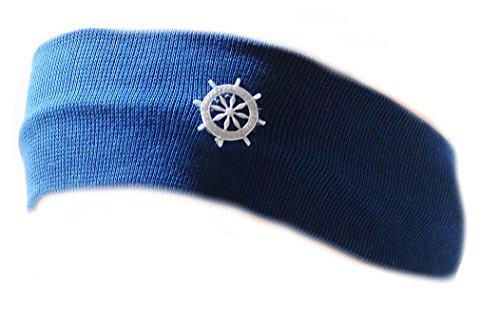 La Bortini Baby Kinder Haarband Stirnband Hairband Blau festlich sommerlich (KU 35-43cm.)