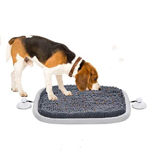 """Schnüffelteppich Für Hunde Hundespielzeug Intelligenz Hund Schnüffelspielzeug Trainingsmatte Futtermatte Welpenspielzeug Intelligenzspielzeug Für Hunde Katzen, Grau, 54 x 42CM(21.26"""" x 16.53"""")"""