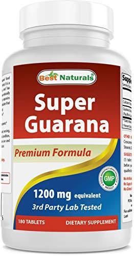 Best Naturals Super Guarana 1200 mg 180 capsules