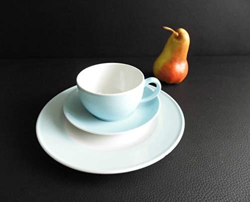 Dibbern SONDERAKTION Solid Color - Kaffeetasse m.U. 0,25 + Teller 21 cm - eisblau - NEU