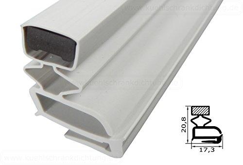 Magnetdichtung Profil klein e - 2500mm inkl. Magnetband - Farbe: weiss(Kühlschrankdichtung)