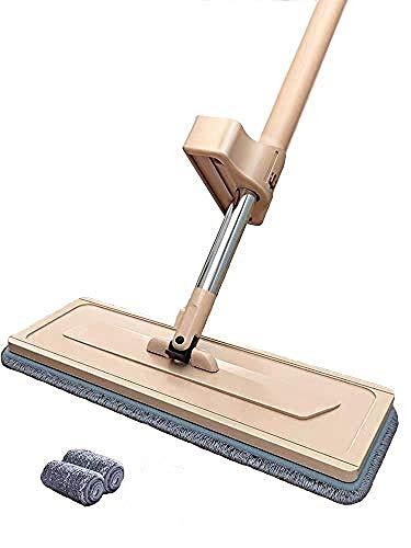 HUOQILIN 1 Stück Wischmopp Set 34cm, Klapphalter Magnet, Mopstange Edelstahl, Microfaser Mopp