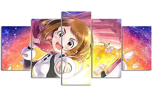 Cinco lienzos de pintura al óleo Boku no Hero Academia Póster 39.4 'x19.7' Asequible y práctico Necesita ser utilizado con el marco