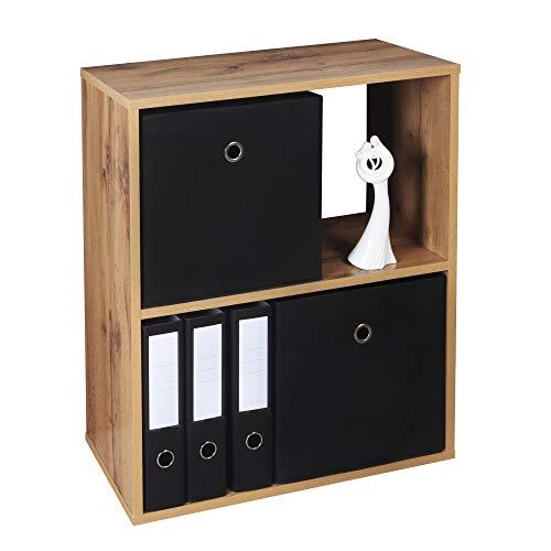 RICOO WM111-EW Estantería 71 x 60 x 31 cm Comoda pequeña Moderna Mueble Dormitorio Muebles de hogar Estante Zapatero Madera Color Roble marrón