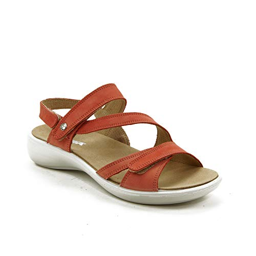 Romika Ibiza 105 Sandalen in Übergrößen Rot 16105 001 480 große Damenschuhe, Größe:42