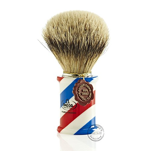 Omega 6735 1st Grade Super Badger Hair Shaving Brush by Omega