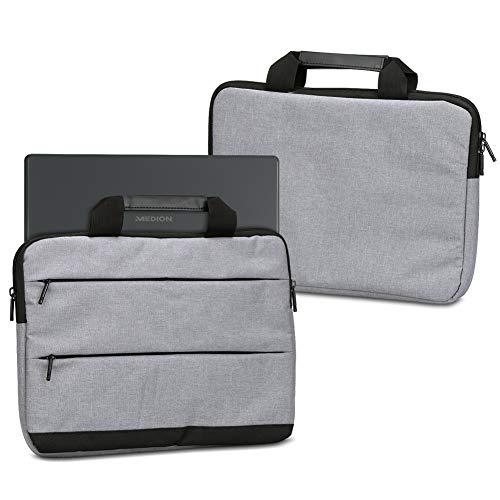 UC-Express Notebooktasche für Medion Erazer X7859 17,3 Zoll Sleeve Tasche Schutz Hülle Schutzcase Laptophülle Schutzhülle Hülle Cover, Farbe:Grau