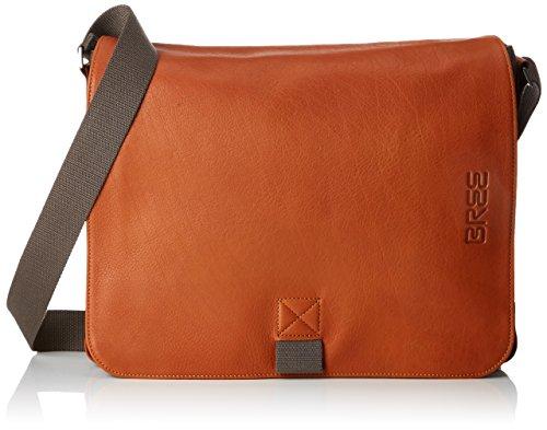 BREE Unisex-Erwachsene PNCH Casual 49 Messenger Bag Laptop Tasche, Mehrfarbig (Grey/Cognac), 28x8x38 cm