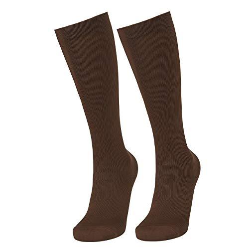 Faleto Compression Socks 15-25mmHg High Knee Nurse Socks for Men & Women