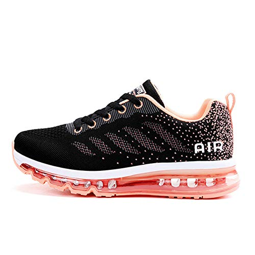 Axcone Homme Femme Air Running Baskets Chaussures Outdoor Running Gym Fitness Sport Sneakers Style Multicolore Respirante Marche Nordique - 833 PK 37EU