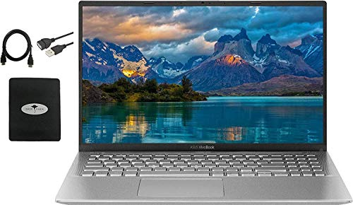 2020 Newest ASUS VivoBook 15.6' FHD Thin Light Business Student Laptop, AMD Ryzen 5 3500U(Beat i7-7500U) 8GB RAM 128GB SSD+ 500GB HDD, Radeon Vega 8, Fingerprint, HDMI, USB-C, Win10, w/GM Accessories