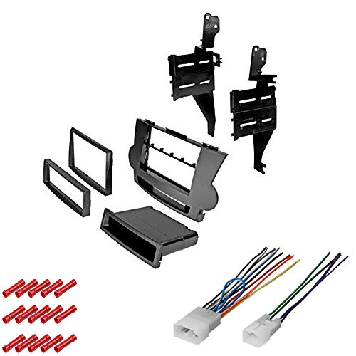 CACHÉ KIT600 Bundle with Car Stereo Installation Kit for 2008 – 2012 Toyota Highlander – in Dash Mounting Kit, Harness for Single or Double Din Radio Receiver (3 Item)