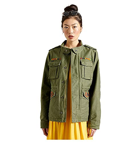 Superdry Womens Crafted M65 Jacket, Olive, M