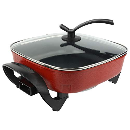 Electric Skillet Grill, Multifunctional Electric Hot Pot Electric Frying...