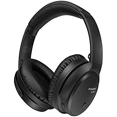 Active Noise Cancelling Headphones, FOGEEK Apollo 11 Bluetooth Headphones with Mic Deep Bass Hi-Fi Sound, Wireless Foldable Headphones, 30 Hours Battery Life for Travelling TV PC Cellphone