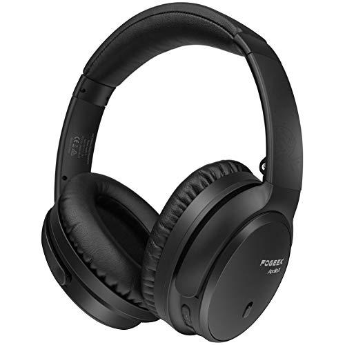 Aktive Noise Cancelling Kopfhörer, FOGEEK Apollo 11 Bluetooth Kopfhörer mit tiefem Bass-HiFi-Mikrofon, kabelloser, klappbarer Kopfhörer, 30 Stunden Akkulaufzeit für TV-PC-Mobiltelefone auf Reisen