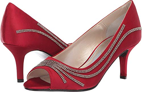 Caparros Womens Oz Peep Toe Classic Pumps, Red, Size 8.5