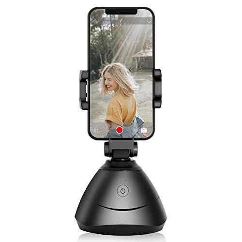 Tracciamento del Viso, Rotazione di 360 ° Supporto per Telefono con tracciamento Automatico del Viso, Tracciamento della Fotocamera dello Smartphone Bastone per Selfie