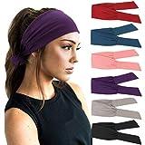 DRESHOW 6 Pièces Bandeau Cheveux pour Femme Yoga...