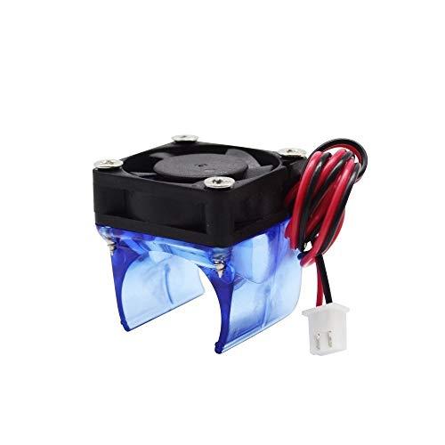HUANRUOBAIHUO 1 Conjunto V5 V6 J-Cabeza montado Ventilador de refrigeración del radiador refrigerador de 3010 DC 12 / 24V hotend Piezas de la Impresora 3D Partes de la Impresora 3D (Size : V6 24V)