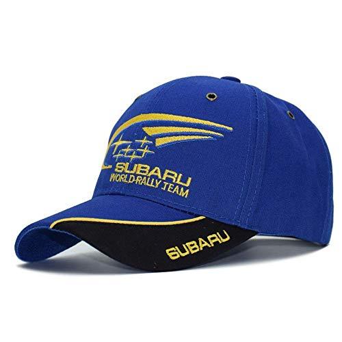 Lqhman F1 Rennwagen Sonnenhut Outdoor Motion Offroad Motorrad Baseball Cap Subaru Hüte Stylish Casual Atmungsaktive Stickerei Hip-Hop Caps Blau